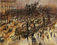 Boulevard des Italiens: Afternoon by Camille Pissarro