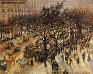 Boulevard des Italiens: Afternoon painting reproduction, Camille Pissarro