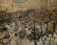 Boulevard des Italiens: Morning, Sunlight by Camille Pissarro