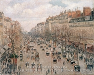 Boulevard Montmartre: Afternoon Sunlight painting reproduction, Camille Pissarro