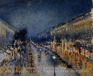 Boulevard Montmartre: Night Effect by Camille Pissarro