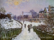 Boulevard St. Denis, Argenteuil, Snow Effect by Claude Monet