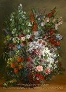 Bouquet of Flowers in a Vase painting reproduction, Gustave Courbet