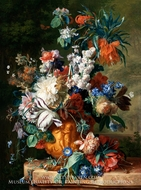 Bouquet of Flowers in an Urn by Jan Van Huysum