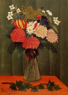 Bouquet of Flowers with an Ivy Branch painting reproduction, Henri Rousseau