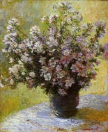 Bouquet of Mallows painting reproduction, Claude Monet
