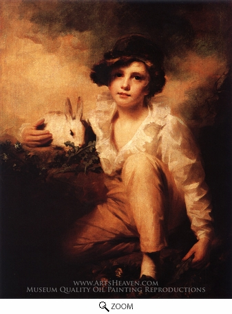 Painting Reproduction of Boy and Rabbit, Sir Henry Raeburn