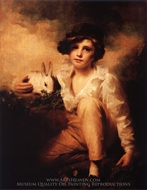 Boy and Rabbit painting reproduction, Sir Henry Raeburn