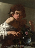 Boy Bitten by a Lizard painting reproduction, Caravaggio