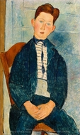 Boy in a Striped Sweater painting reproduction, Amedeo Modigliani