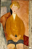 Boy in Short Pants painting reproduction, Amedeo Modigliani
