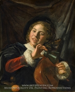 Boy with a Lute by Frans Hals