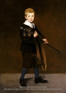 Boy with a Sword by Edouard Manet