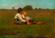 Boys in a Pasture painting reproduction, Winslow Homer
