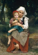 Breton Brother and Sister by William Adolphe Bouguereau
