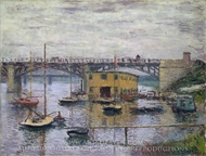 Bridge at Argenteuil on a Gray Day painting reproduction, Claude Monet