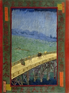 Bridge in the rain (after Hiroshige) painting reproduction, Vincent Van Gogh