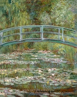Bridge over a Pond of Water Lilies painting reproduction, Claude Monet
