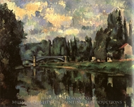 Bridge over the Marne at Creteil painting reproduction, Paul Cezanne