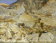 Bringing Down Marble from the Quarries to Carrara painting reproduction, John Singer Sargent