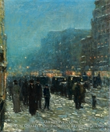 Broadway and 42nd Street by Childe Hassam