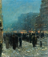 Broadway and 42nd Street painting reproduction, Childe Hassam