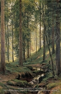 Brook in Forest by Ivan Shishkin