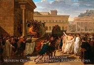 Brutus Listening to the Ambassadors from the Tarquins painting reproduction, Louis Lafitte