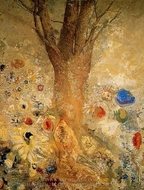 Buddah in His Youth painting reproduction, Odilon Redon
