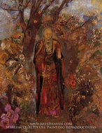 Buddah Walking Among the Flowers by Odilon Redon