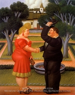 Buenos Dias painting reproduction, Fernando Botero