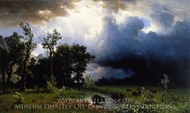 Buffalo Trail, The Impending Storm painting reproduction, Albert Bierstadt