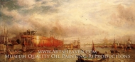 Building the Great Leviathan painting reproduction, William Parrott