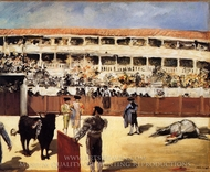 Bullfight painting reproduction, Edouard Manet