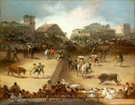 Bullfight in a Divided Ring painting reproduction, Francisco De Goya