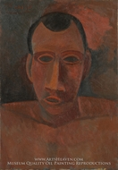 Bust of a Man painting reproduction, Pablo Picasso (inspired by)