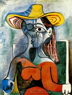 Buste de Femme au Chapeau painting reproduction, Pablo Picasso (inspired by)