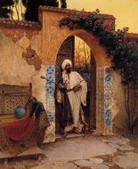 By the Entrance painting reproduction, Rudolph Ernst