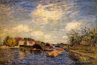 By the Loing painting reproduction, Alfred Sisley