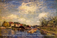 By the Loing by Alfred Sisley