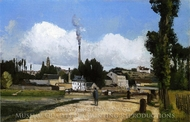 By the Oise at Pontoise painting reproduction, Camille Pissarro