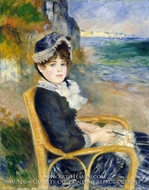 By the Seashore painting reproduction, Pierre-Auguste Renoir