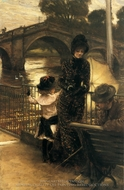 By the Thames at Richmond painting reproduction, James Tissot