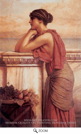 Painting Reproduction of By the Wayside, John William Godward
