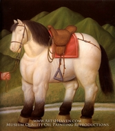 Caballo painting reproduction, Fernando Botero