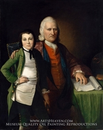 Cadwallader Colden and His Grandson Warren De Lancey by Matthew Pratt