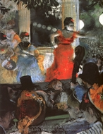Cafe-Concert at Les Ambassadeurs painting reproduction, Edgar Degas