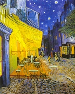 Cafe Terrace at Night painting reproduction, Vincent Van Gogh