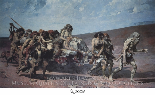 Painting Reproduction of Cain, Fernand Cormon