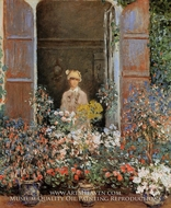 Camille Monet at the Window, Argenteuil by Claude Monet